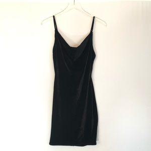 Audrey 3+1 Velvet Party Dress With Scoop Neck